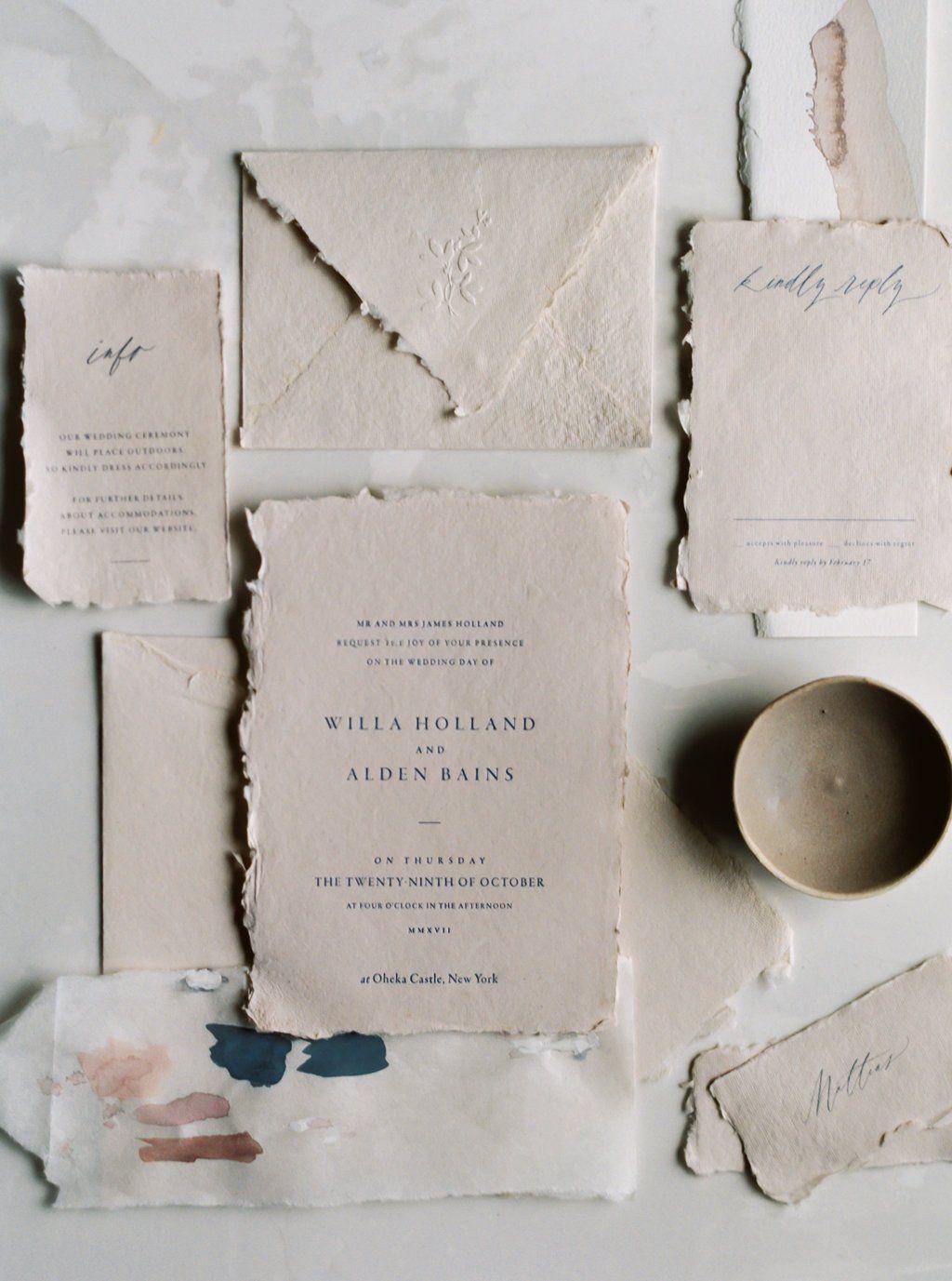 Invitation Suite Via Idyll Paper Mariage En Nude Blush Wedding