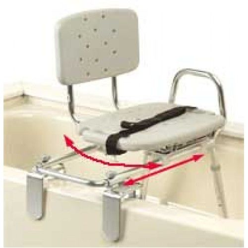 Tub Mounted Transfer Bench with Molded Swivel Seat and