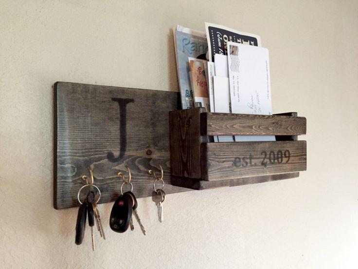 51 DIY Schlüsselhalter für die Wand 19. ist am