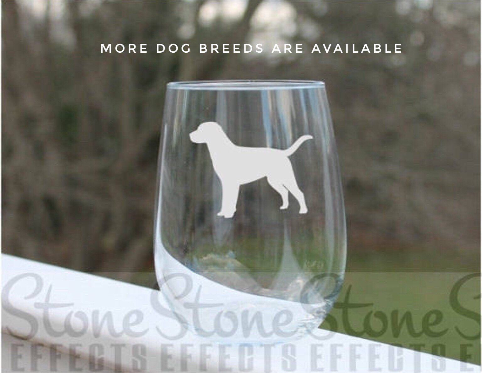 bf2f2adfcf1 Etched wine glasses, stemless wine glasses, dog wine glass, engraved wine  glasses, dog breeds