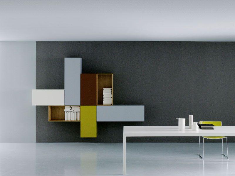 Modular Storage Wall Modern Collection By Porro Design Piero Lissoni