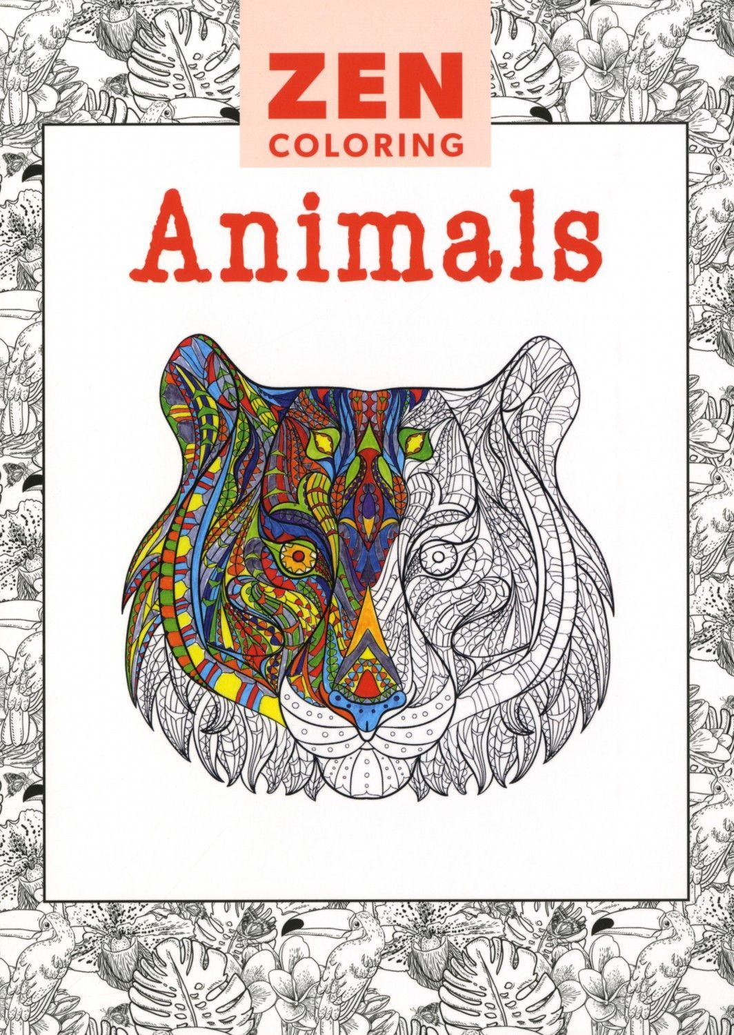 Zen coloring books for adults app - Zen Coloring Animals Adult Coloring Book