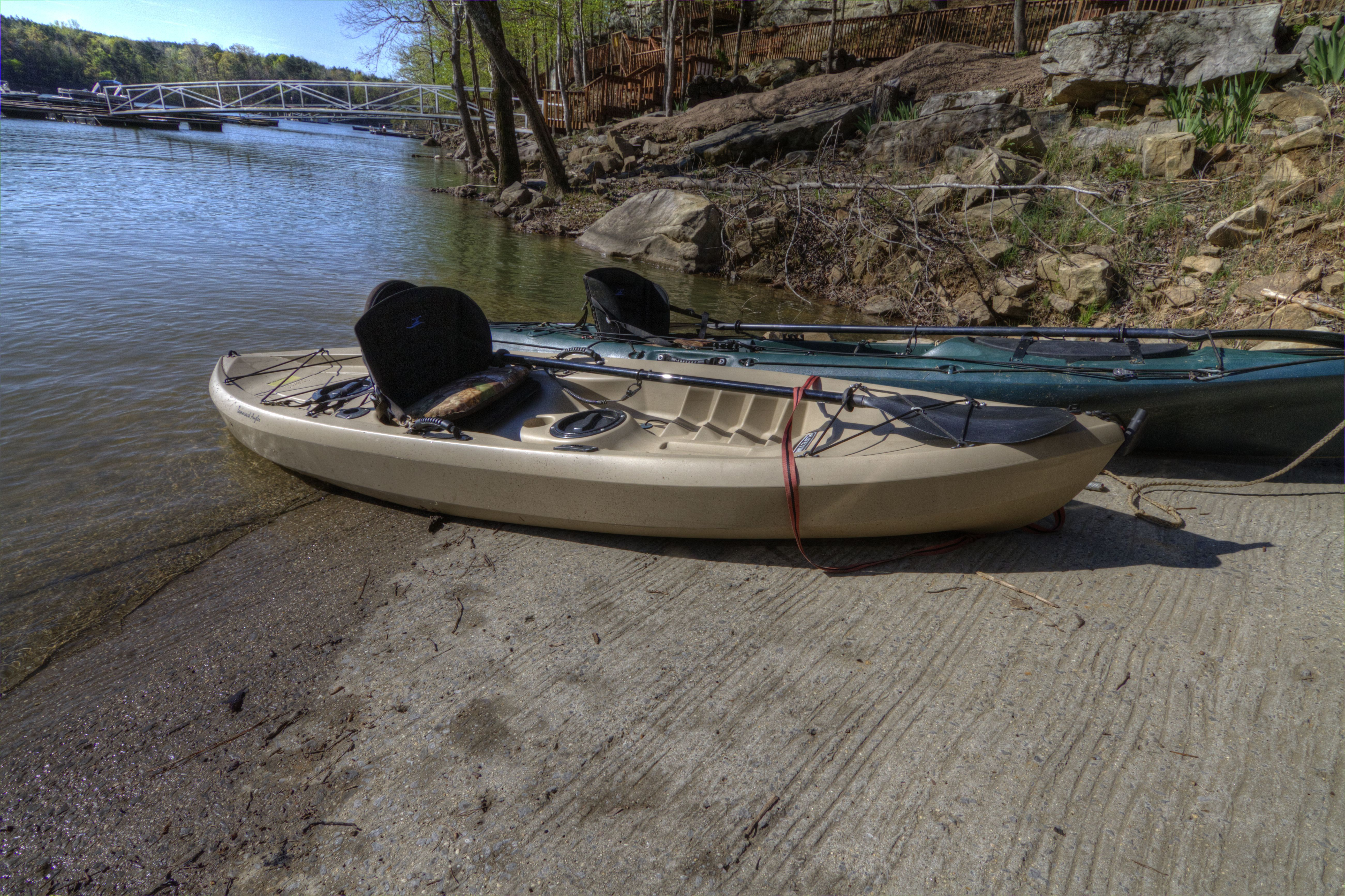 Kayak on Smith Lake from your private boat launch