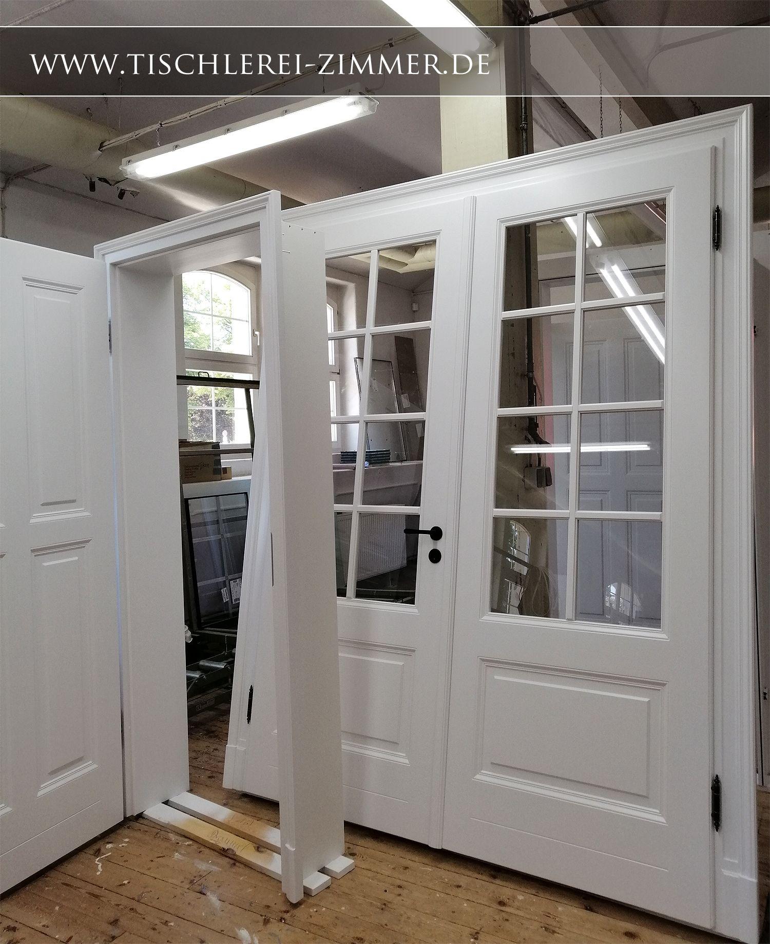 traditionelle Kassettentür in weiß (mit Bildern