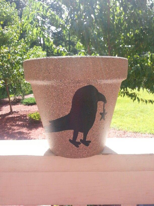 Primitive small flower pot