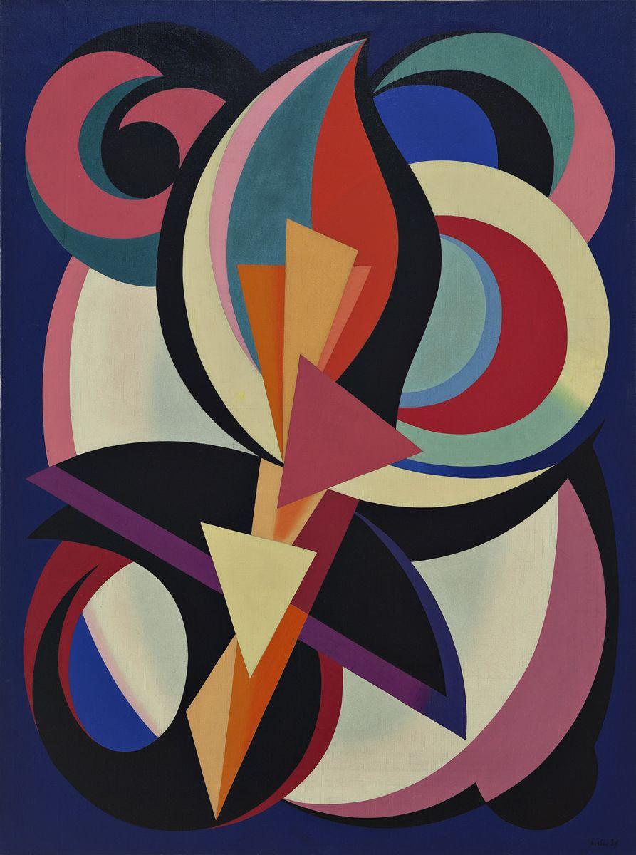 Comment Faire Du Gris Argenté En Peinture auguste herbin - untitled, 1939. oil on canvas | geometric