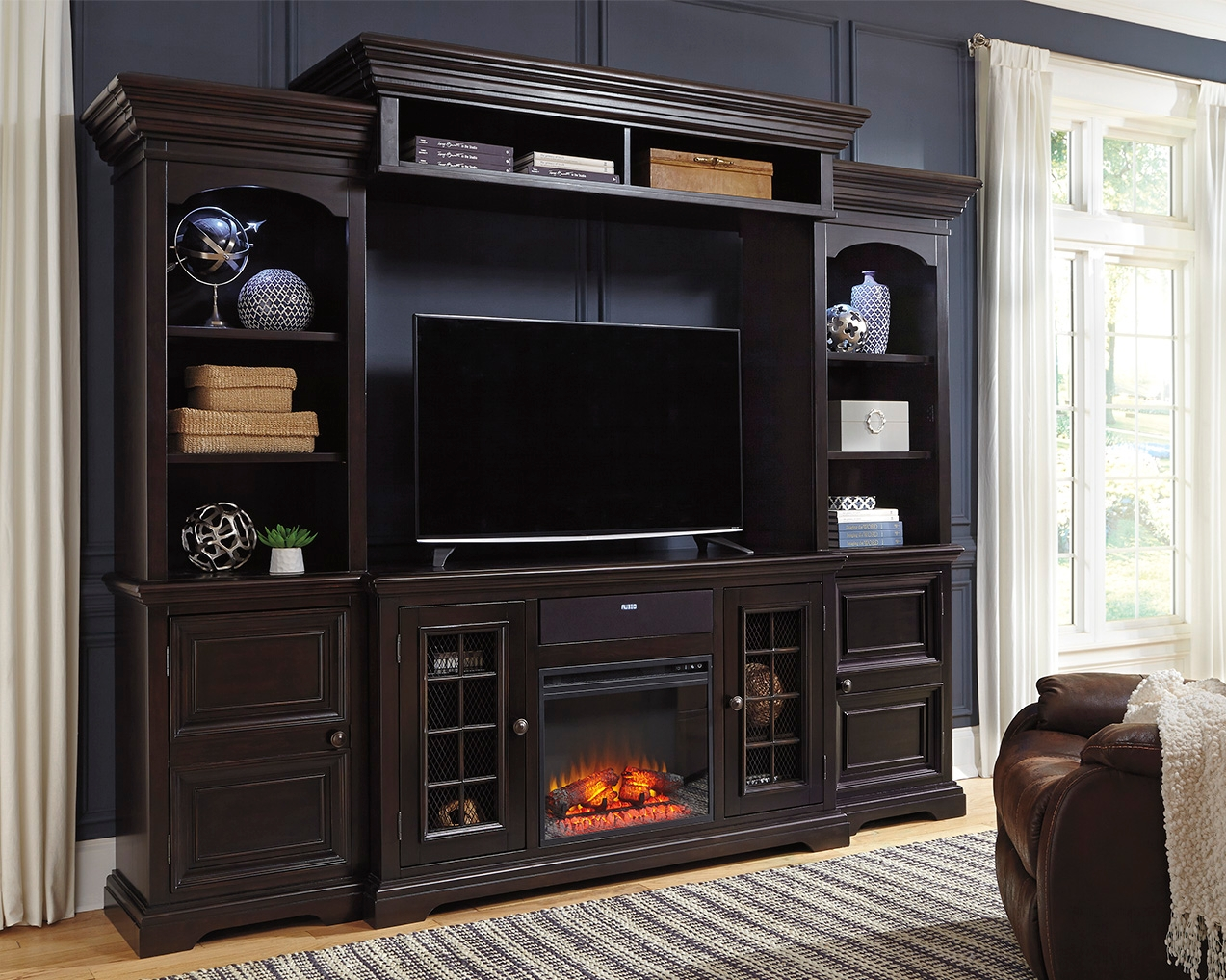 Willenburg 4 Piece Entertainment Center With Fireplace And Audio