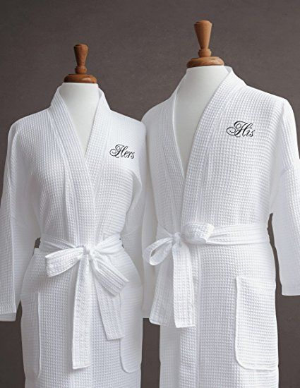 a50f4a9e6b Luxor Linens Luxury Bath Robe - Egyptian Egyptian Cotton His   Hers Waffle  Robes with Gift Packaging - Perfect Bathrobe Wedding Gift