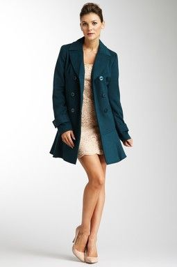 Teal pea coat! | $tuff To Wear | Pinterest | Double breasted, Teal ...