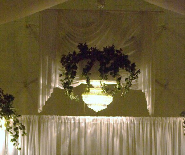 Afternoon Wedding Reception Ideas: Cover For Gym Basketball Hoop. Not A Fan Of Flowers Though