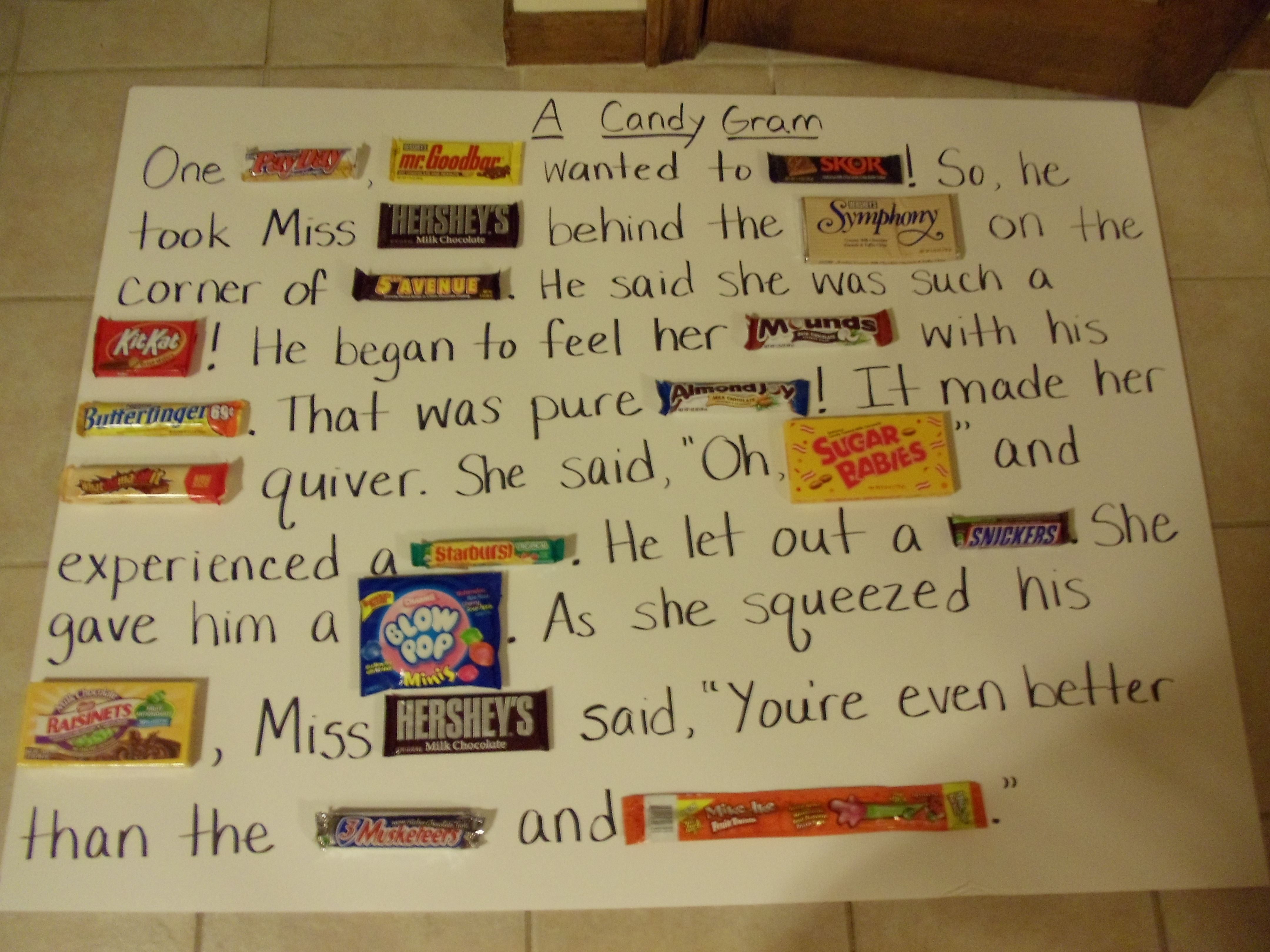 My friend made this candy gram for her boyfriends 40th birthday