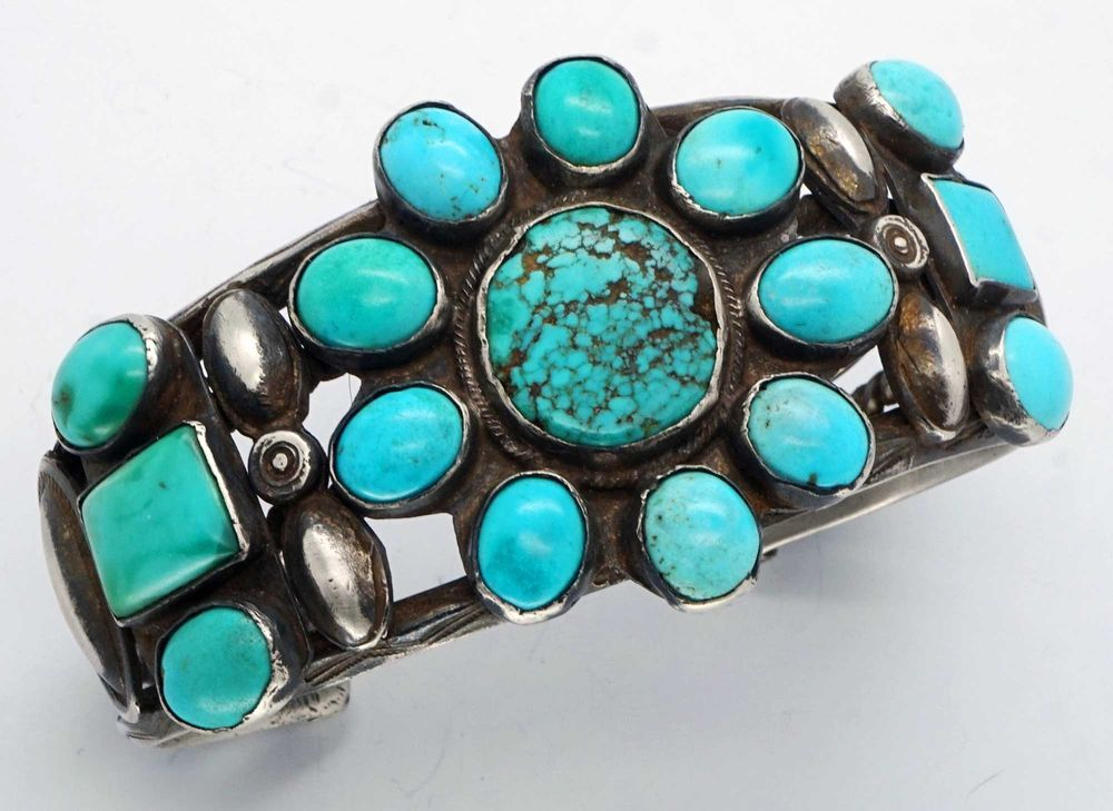 lee navajo kingman sterling silver indian smaller albert photo triangle shaped bracelet by artist turquoise product jewelry cuff