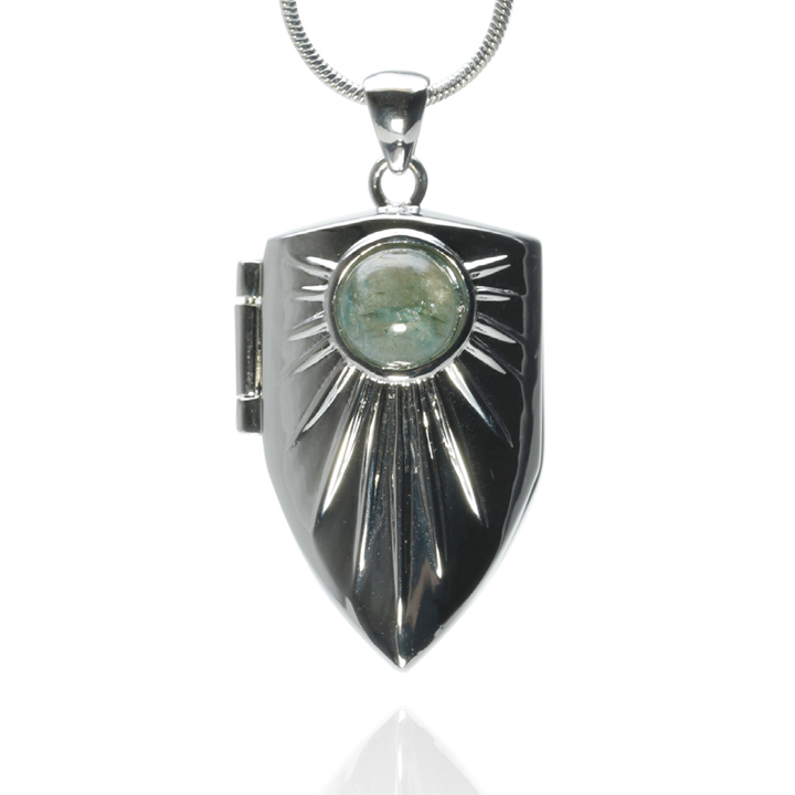 KNIGHT$ OF NEW YORK THE BOWERY SHIELD LOCKET. $250. New collection by Celebrity Stylist Lauryn Flynn.
