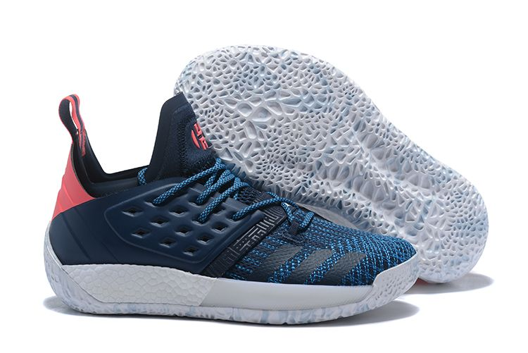 quality design f73d6 a5c61 ... basketball shoes white black grey 78ed4 cbab5  australia adidas harden  vol. 2 deep blue and pink for sale c2f97 f17b7