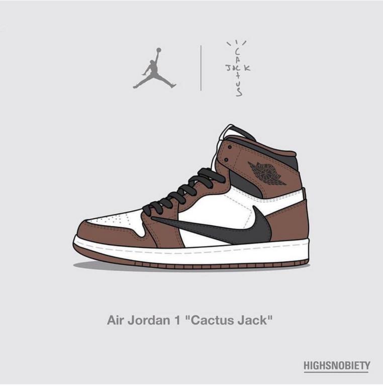 Cactus Jack Aj1 Collab Sneakers Sneakers Illustration Sneakers Wallpaper Sneaker Posters