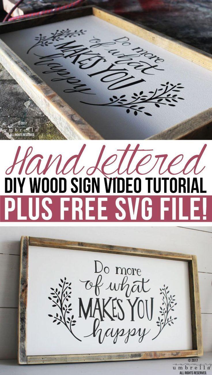 Hand Lettered DIY Wood Sign Video Tutorial | Bastelarbeiten ...