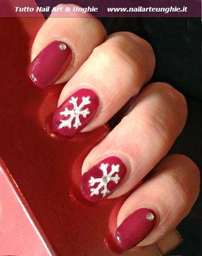 Nail Art Con Fiocco Di Neve Tutorial Acrilico Nail Art Design Per Nail Art Unghie Natale Semplici