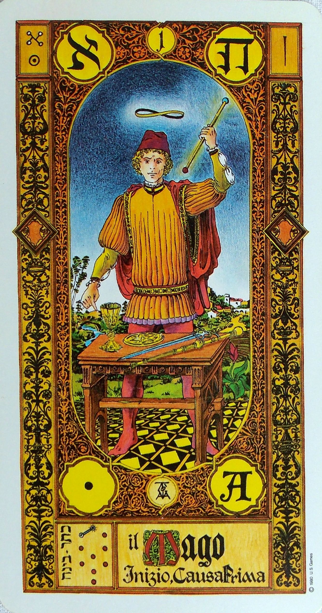 The Stairs Of Gold Tarot. By M.S. Tavaglione Printed By US