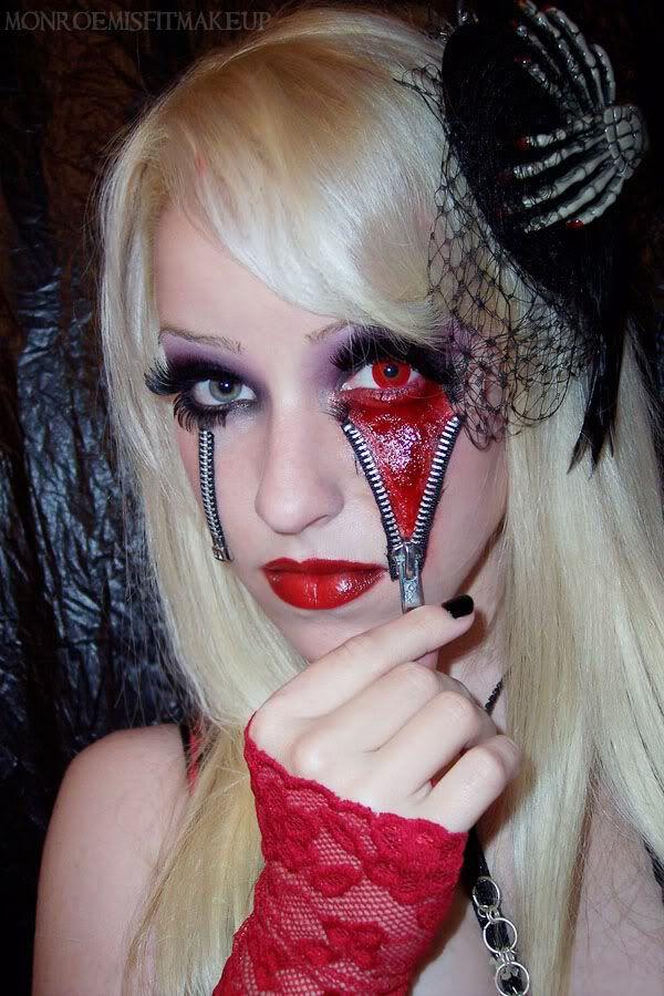 fantasy: cute zipper effect? | Stage Makeup | Pinterest | Zipper ...