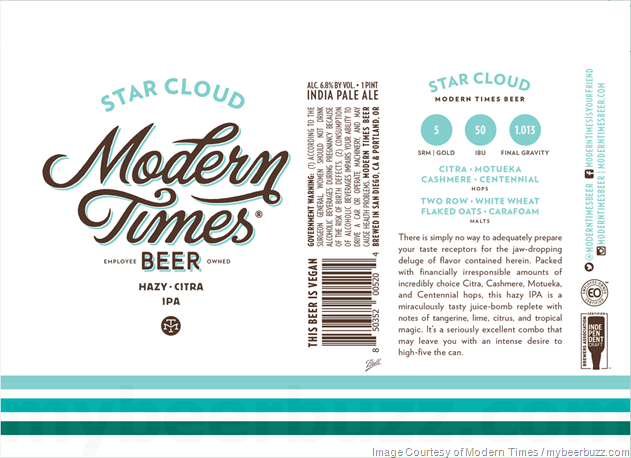 Modern Times Adding Star Cloud Proxima Cans Star Cloud Beer Label Clouds