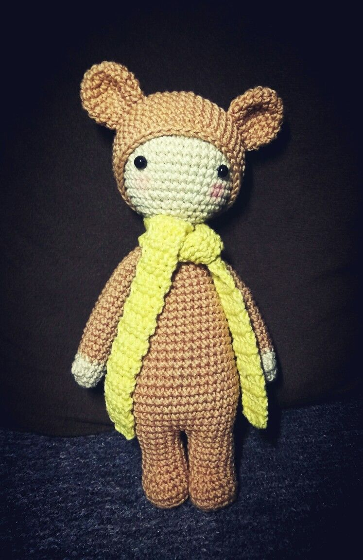 Bina the bear amigurumi