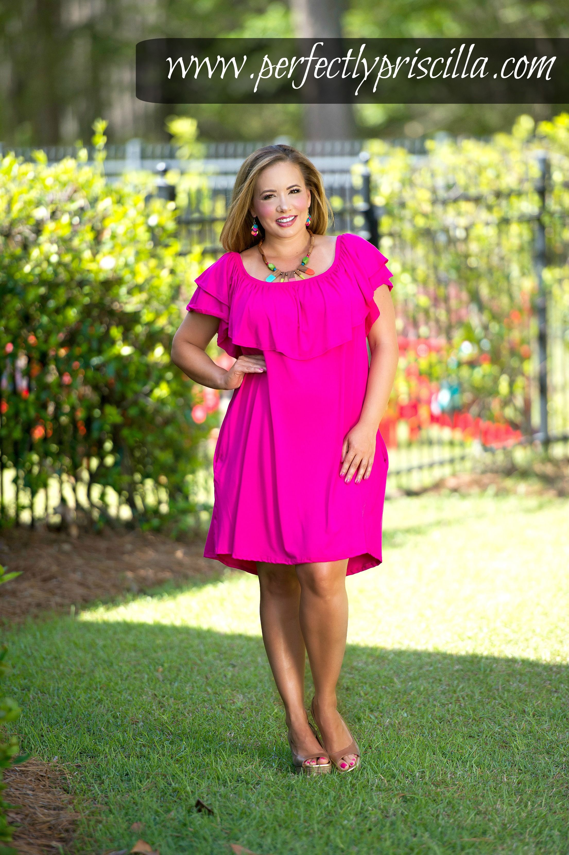 bright #pink #dresses #curvy | My Style | Pinterest | Vestiditos