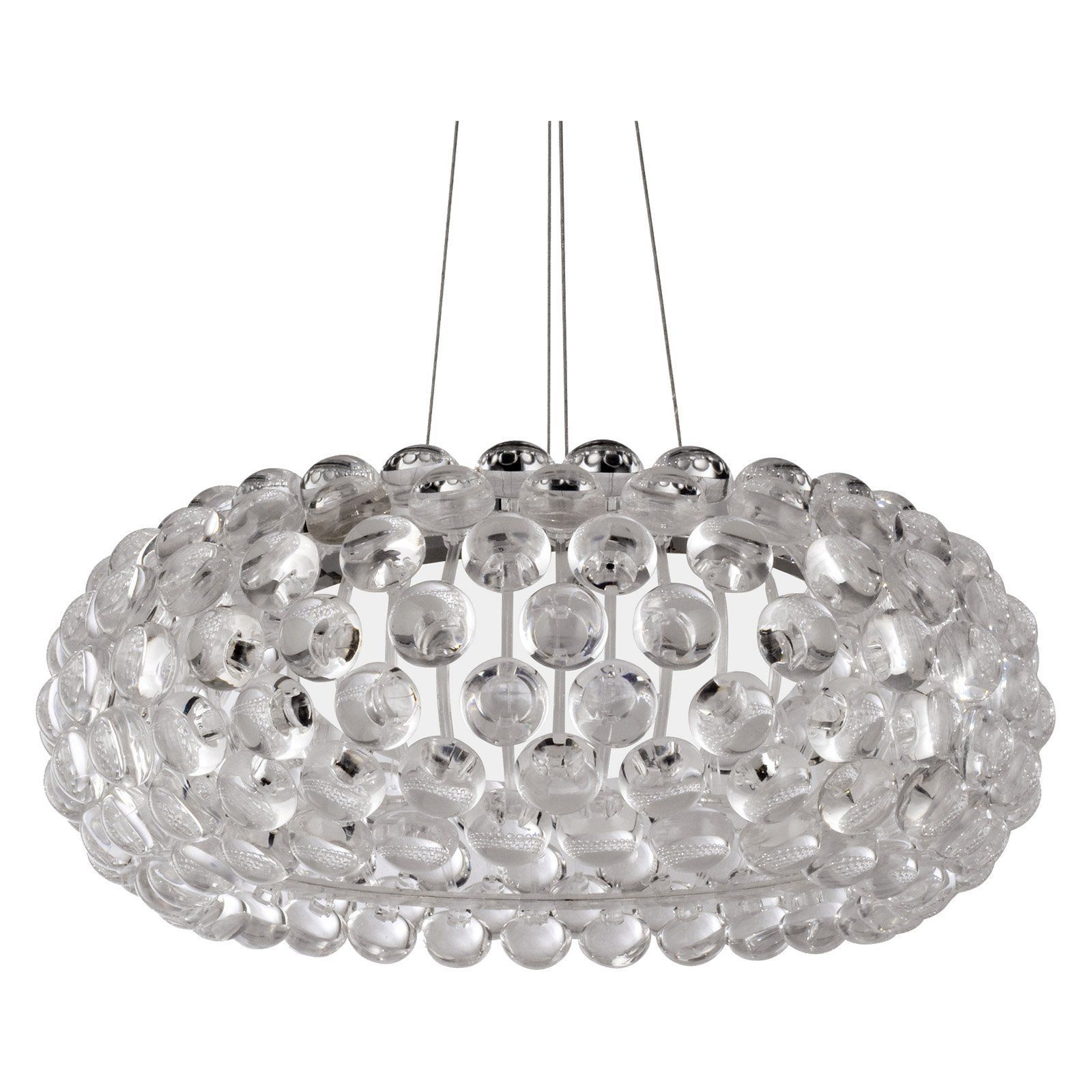 Halo Acrylic Crystal Chandelier 25 5W in Clear Like sparkling