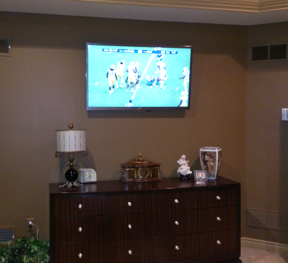 The Cable Box For This Bedroom Tv Is Hidden In An Adjacent Laundry Room And Is Controlled By An Ir Blaster Perfec Sale Design Tv In Bedroom Beautiful Bedrooms