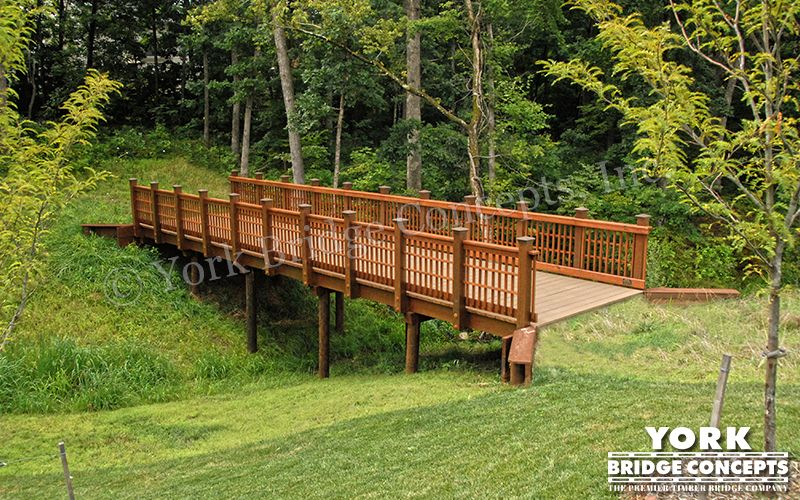 Bridge from driveway to house residential bridges