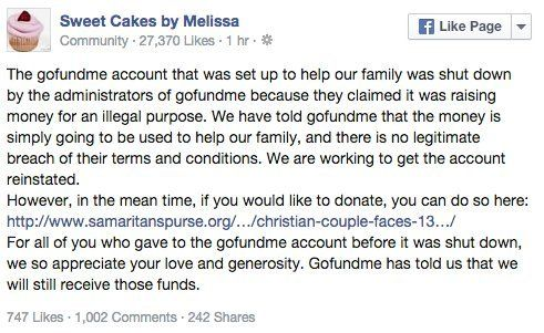 Donations Pour In For Oregon Bakery That Won T Prepare Wedding Cakes