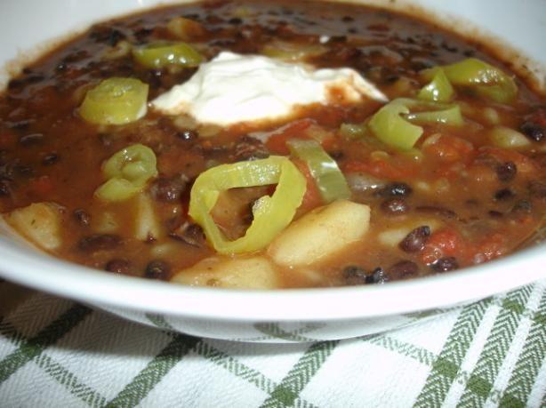 Vegetarian Black Bean Soup. Photo by Sarah_Jayne