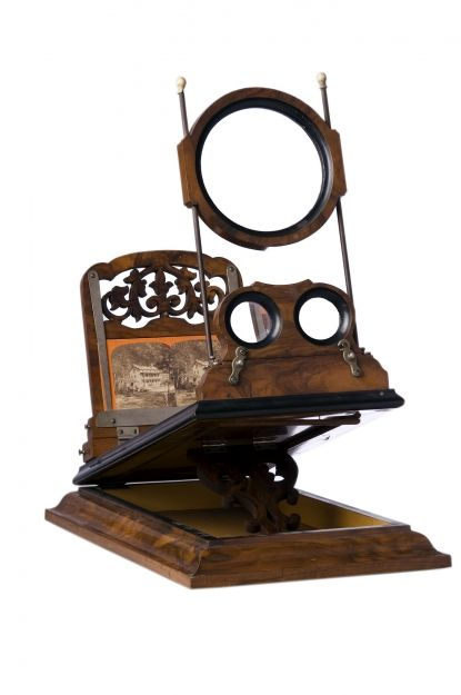 Tabletop Stereo Viewer 1860 Rosewood