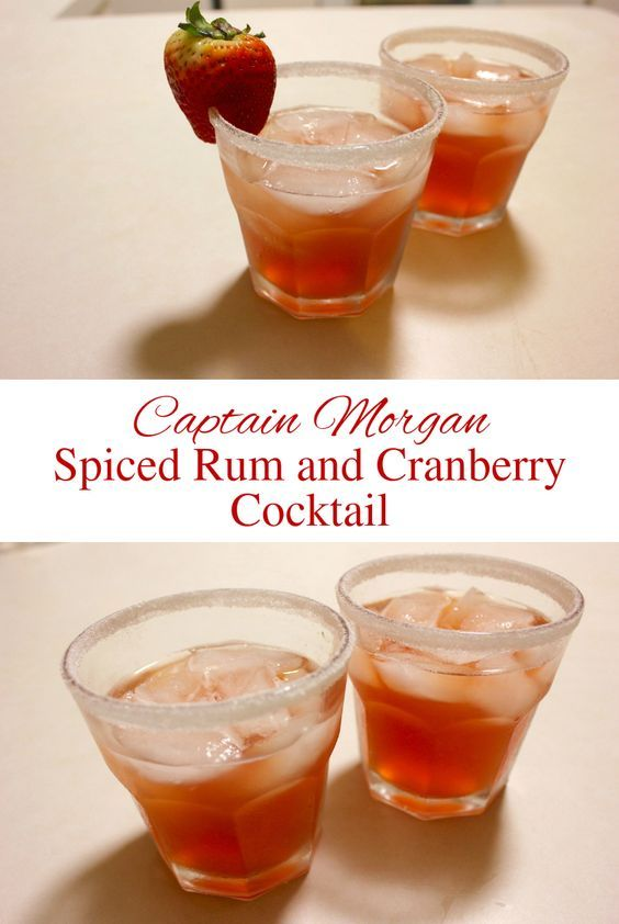 Captain Morgan™ Spiced Rum and Cranberry Cocktail Recipe Mixed