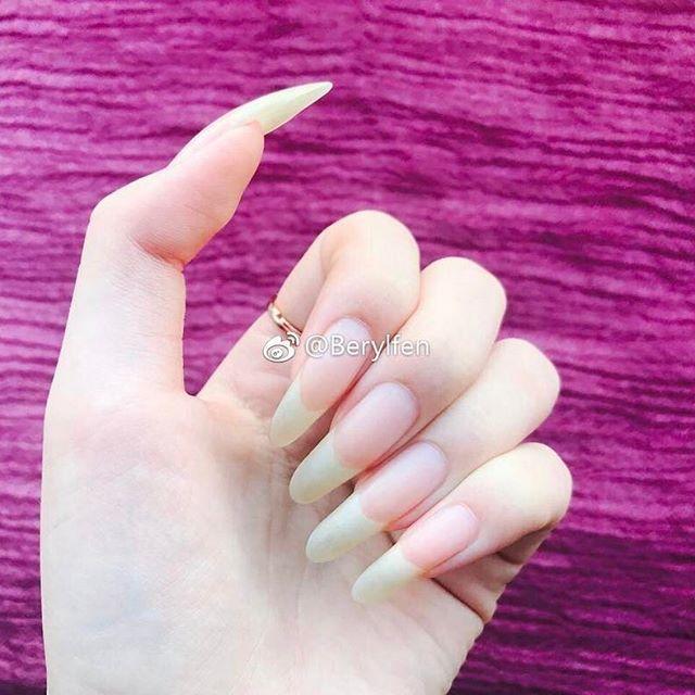 Longnails Mynails Myhands Nailsart Nautralcolor Nails Naturalnails Naturallongnails Longnails Beautifulha Natural Nails Nails Only Long Natural Nails