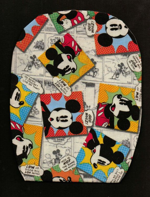 Ostomy Pouch Cover Worddrow And Buttons On Etsy Mickey
