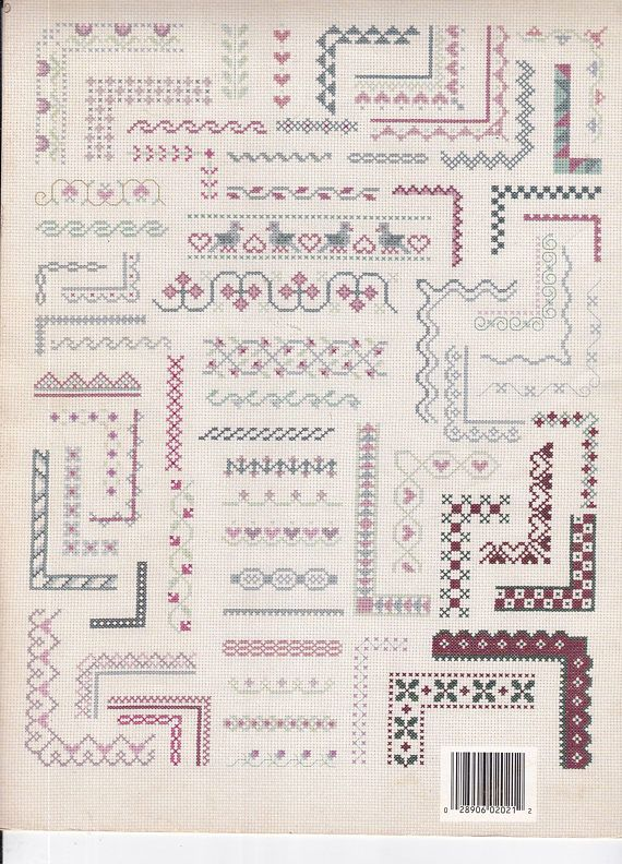 Leisure Arts Pamphlet 2021 - Cross Stitch Craft Book - 127 Borders ...