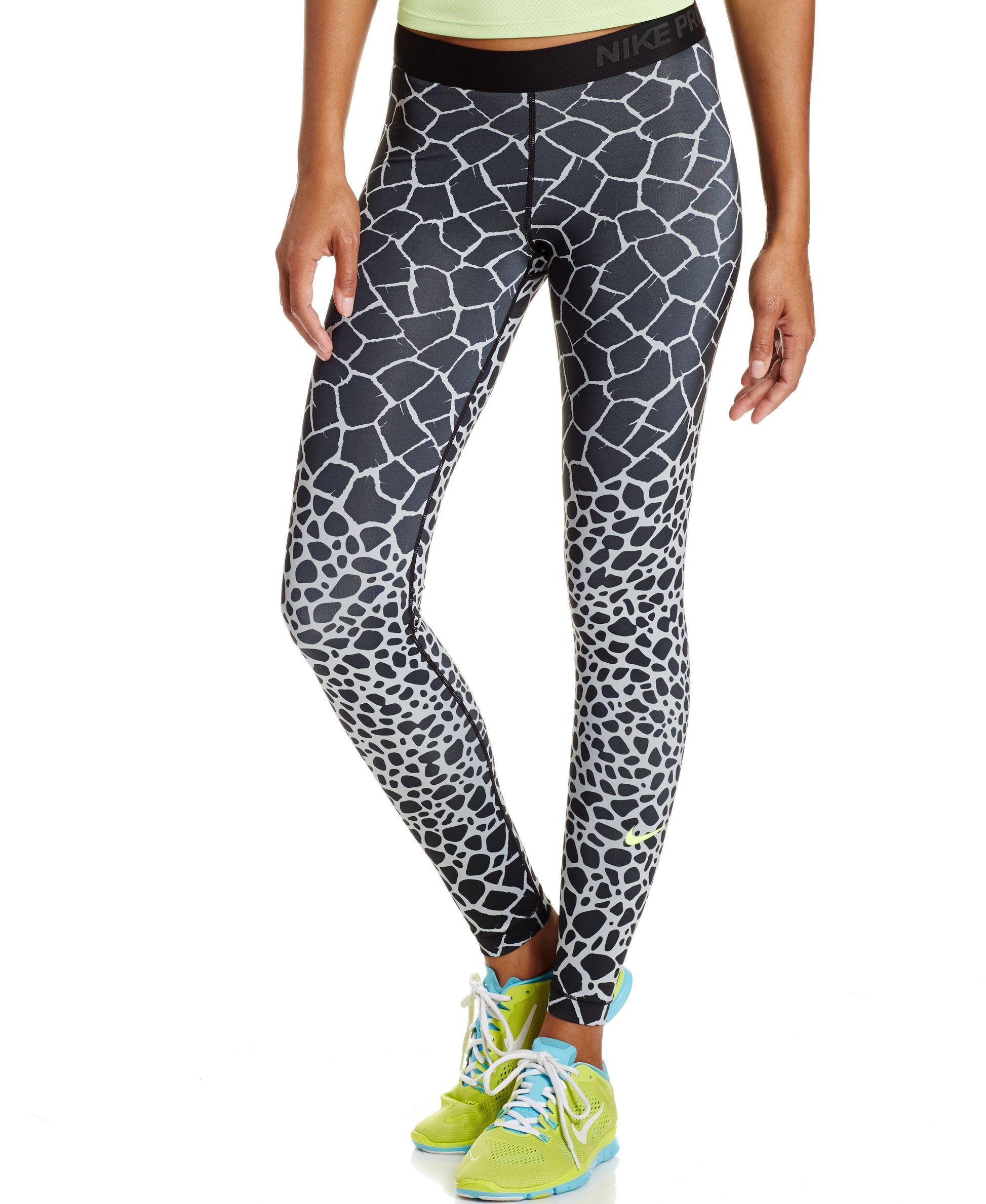759fad27d359 Nike Pro Engineered Dri-FIT Giraffe-Print Leggings - Pants   Capris - Women  - Macy s
