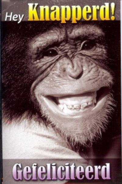 hartelijk gefeliciteerd aap