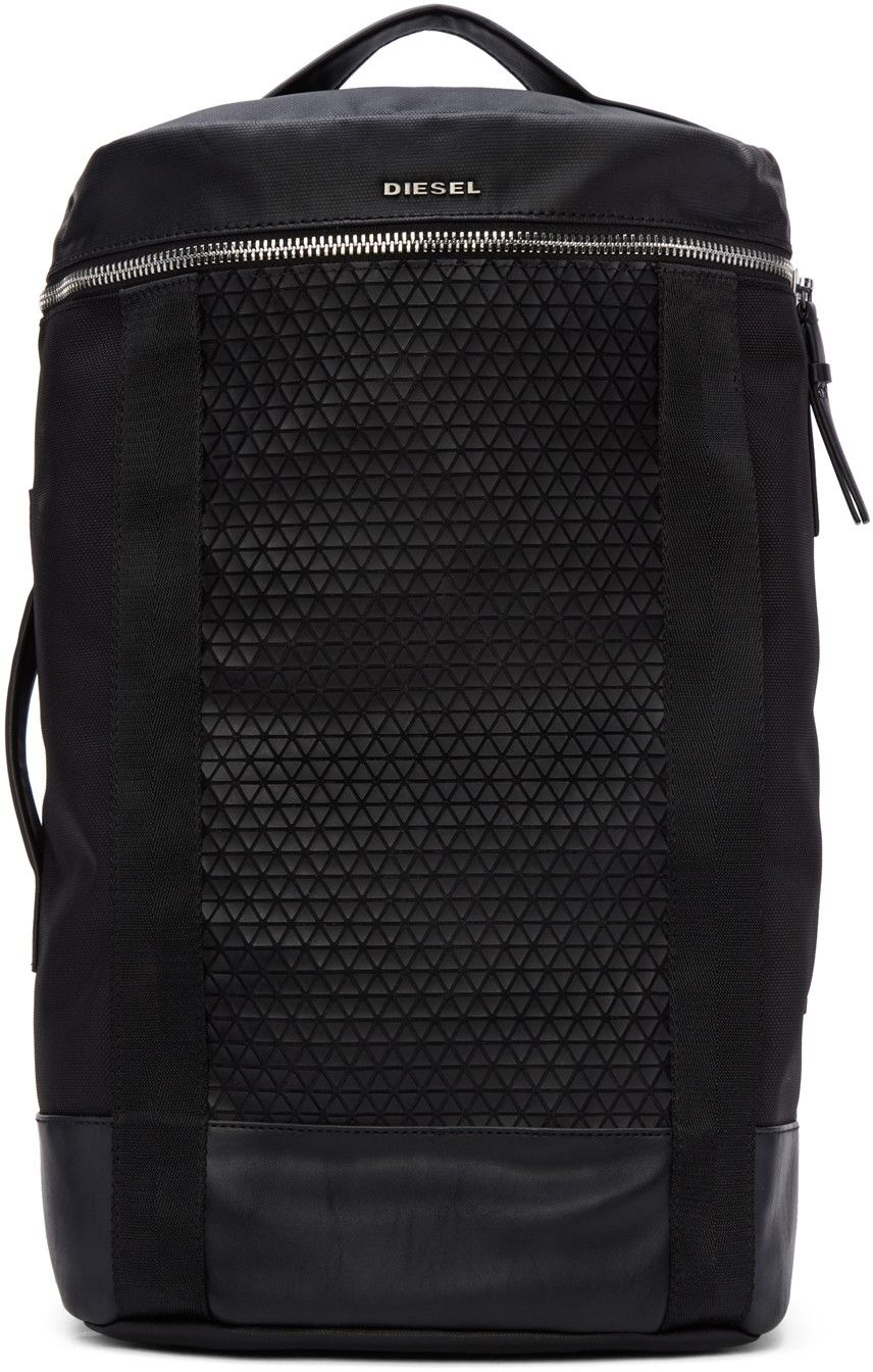 124e2be335 DIESEL Black M-Move To Backpack.  diesel  bags  canvas  leather  lining   polyester  nylon  backpacks