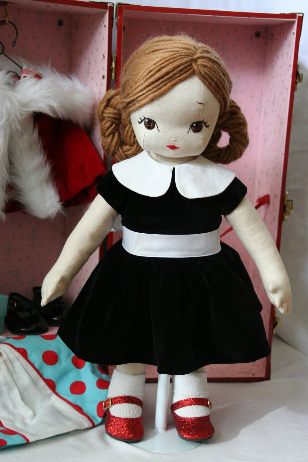 dollsewing cloth doll collectible doll Louise doll rag doll unique doll entirely made of fabric