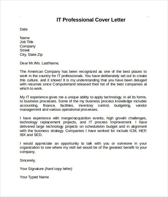 cover letter it professional 28 images professional resume cover