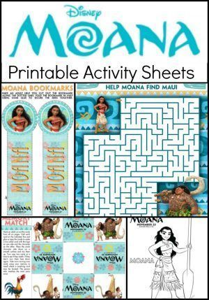 moana coloring pages and kids activity sheets  printable  moana themed party activity sheets