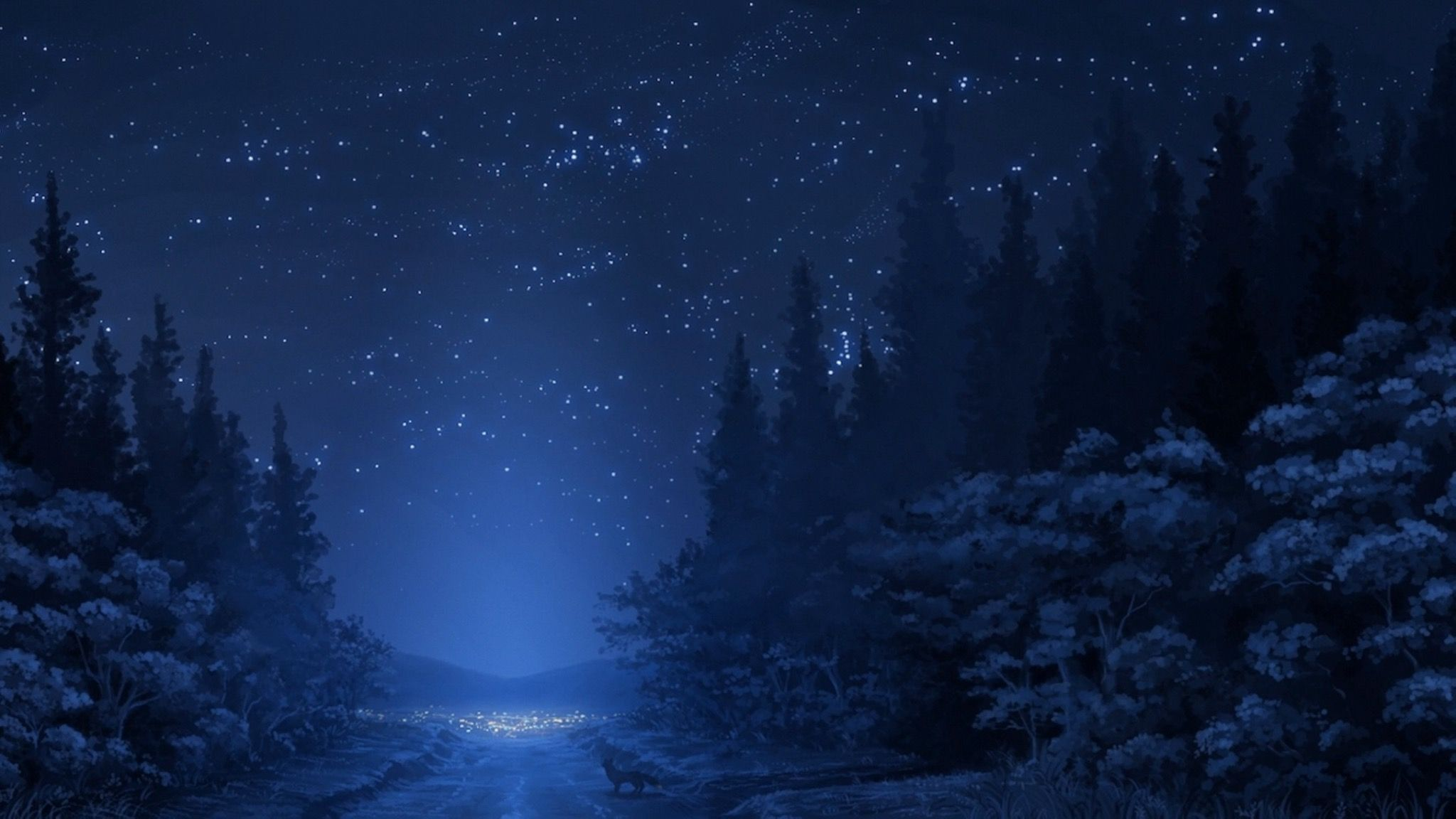 Night Time Anime Scenery Anime Scenery Wallpaper Scenery Wallpaper