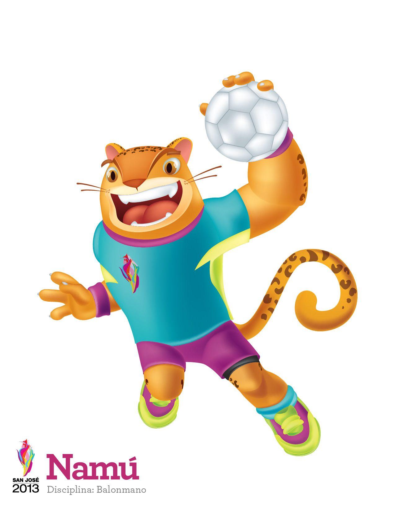 Namu Mascota De Los Juegos Centroamericanos San Jose 2013 O Disciplina Balonmano