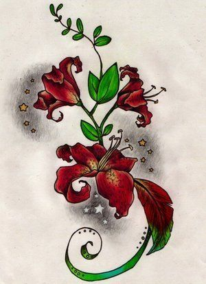 Rustic Flower Tattoo Bells Of Ireland Flower Tattoos Designs And Meaning Lily Tattoo Lily Tattoo Design Oak Leaf Tattoos