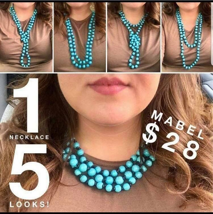 0491ae88a Check out all the different ways to wear the Plunder Design Mabel necklace.  #turquoisejewelry #mabelnecklace #plunderdesign #designerjewelry