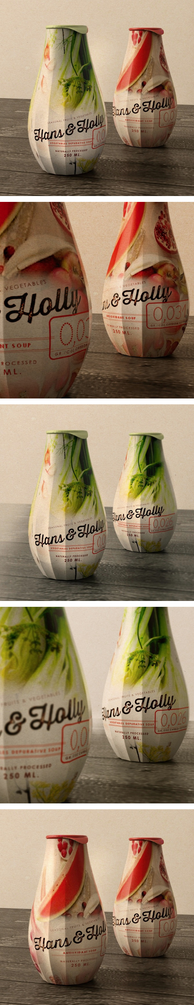 HANS & HOLLY Soups packaging #creative #packaging #design