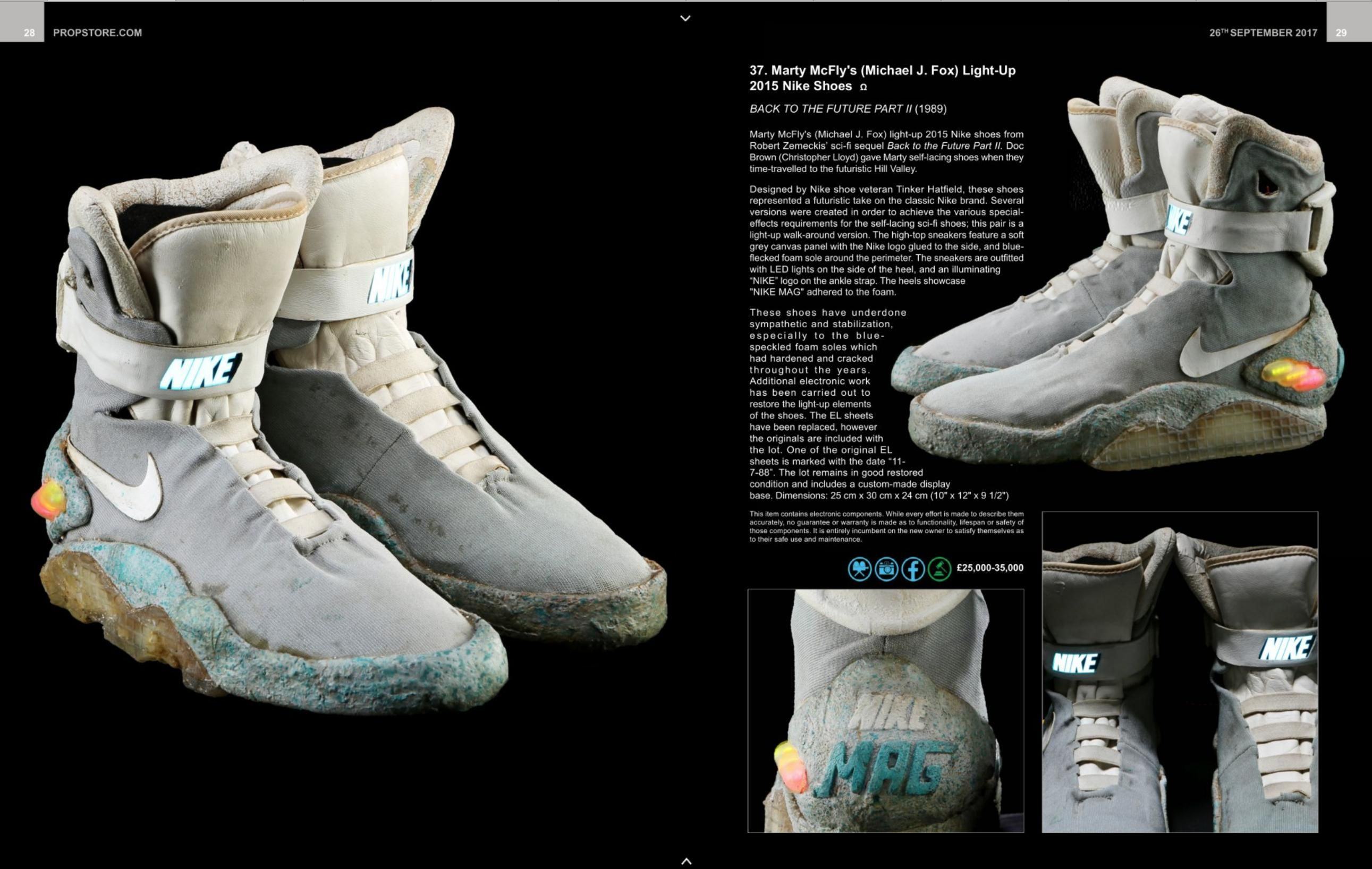 The original Air Mags up for auction Nike Mag 4974eb14bacd