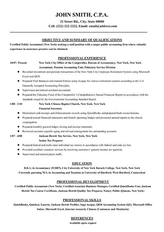 Click Here to Download this Financial Accountant Resume Template - Accounting Resume Tips