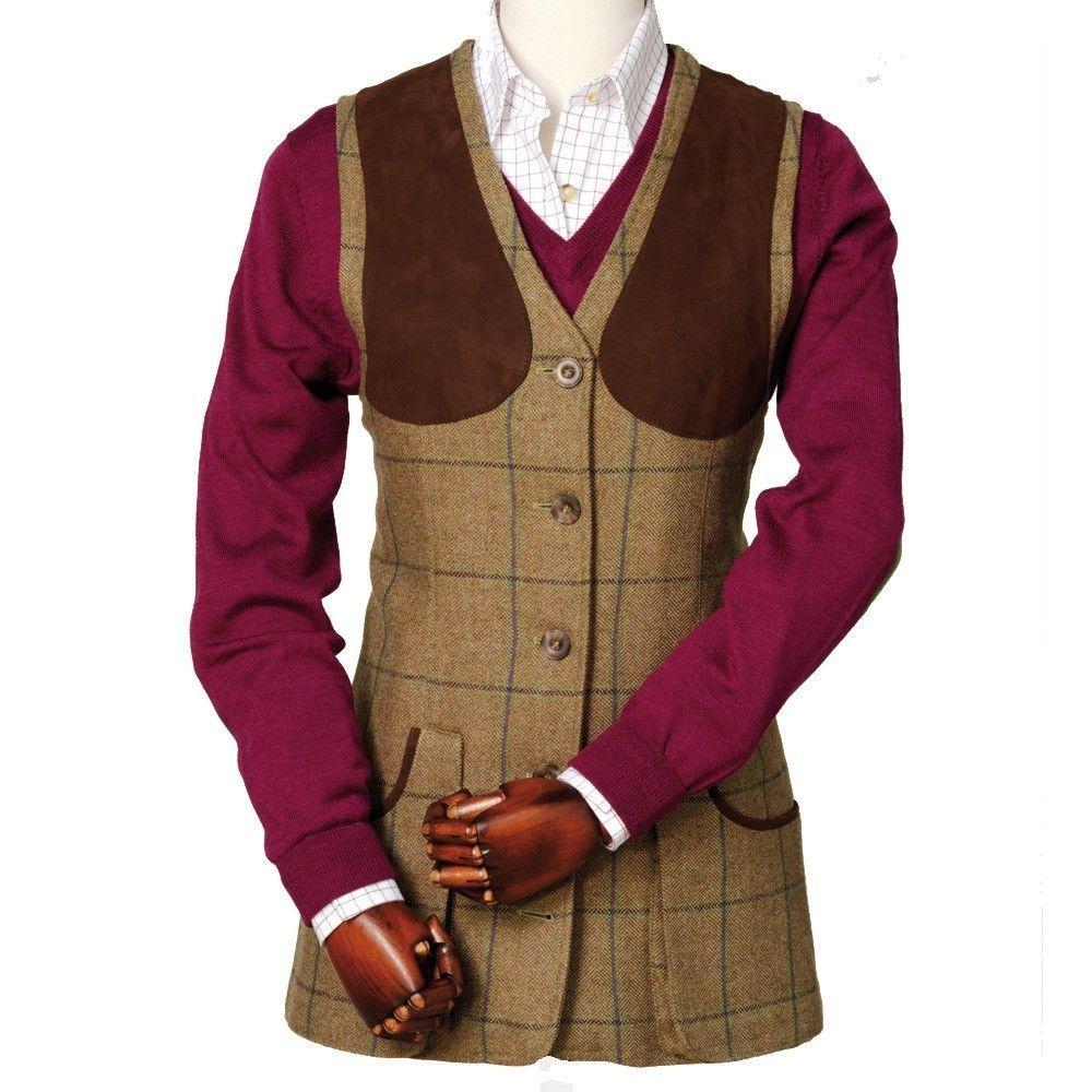 Vest Waistcoat 34 Laksen 8 tweed Shooting S Uk Eden Lady Size aF1ICqH1